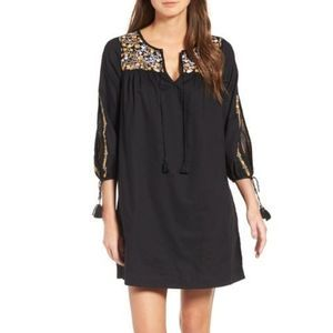 Madewell Slit Sleeve Embroidered Tunic Dress M